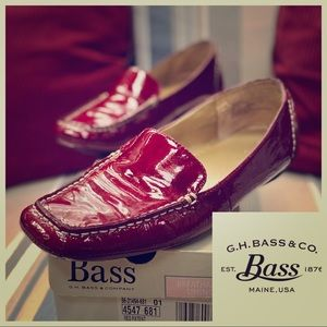 BASS Red Tianna PATENT LEATHER LOAFER - Size 8.5